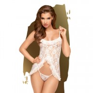 Lenjerie Sexy Penthouse Flawless Love White S/M