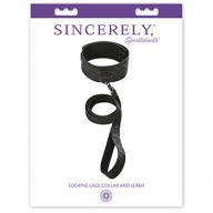 Zgarda Cu Lesa Sincerely Locking Lace Collar And Leash